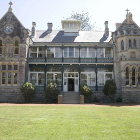 South-West Elevation of the Archbishops Residence at completion of the conservation work in 2005