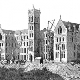 St Patricks Seminary under construction c1887.Source-Manly-Vol4 No2 1932 Page 101