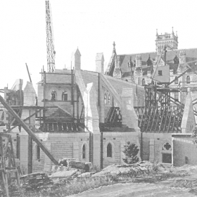 The Cerretti Memorial Chapel under construction. Source-Manly-Vol4-No4-1934-p25